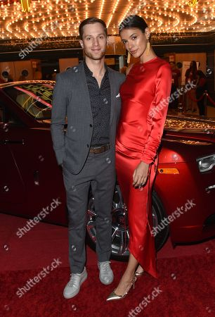 Stock Image of Jonathan Keltz from the film 'Stealing School' and Laysla De Oliveira, attend the opening night of the Napa Valley Film Festival held at the Uptown Theatre, Napa Valley, CA @NapaFilmFest #NVFF19