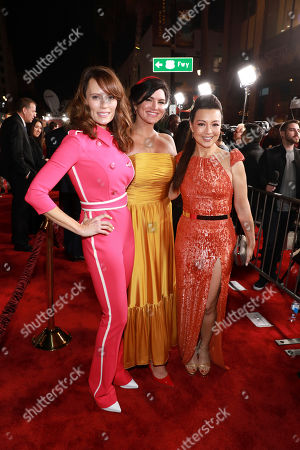 "Emily Swallow, Gina Carano, Ming-Na Wen. Emily Swallow, from left, Gina Carano, Ming-Na Wen attend the LA Premiere of ""The Mandalorian"" at the El Capitan theatre on in Los Angeles"