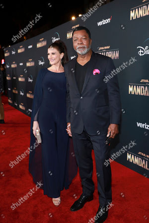 "Editorial image of LA Premiere of ""The Mandalorian"" - Red Carpet, Los Angeles, USA - 13 Nov 2019"