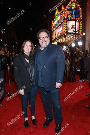 "Kathleen Kennedy, Jon Favreau. Kathleen Kennedy and Jon Favreau attends the LA Premiere of ""The Mandalorian"" at the El Capitan theatre on in Los Angeles"