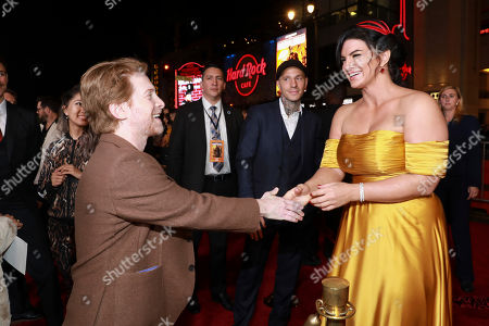"Seth Green, Gina Carano. Seth Green and Gina Carano attend the LA Premiere of ""The Mandalorian"" at the El Capitan theatre on in Los Angeles"
