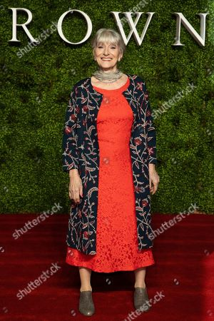 Stock Photo of Jane Lapotaire poses for photographers upon arrival at the World premiere of 'The Crown' season 3, in central London