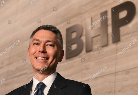 BHP CEO-Elect Mike Henry poses for a photograph following a press conference at BHP headquarters in Melbourne, Victoria, Australia, 14 November 2019. BHP chief executive Andrew Mackenzie will retire as boss of the world's biggest miner at the end of 2019, when insider Mike Henry will take the reins.