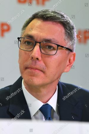 BHP CEO-Elect Mike Henry looks on during a press conference at BHP headquarters in Melbourne, Victoria, Australia, 14 November 2019. BHP chief executive Andrew Mackenzie will retire as boss of the world's biggest miner at the end of 2019, when insider Mike Henry will take the reins.