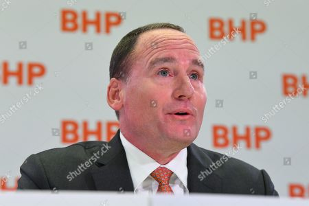 Stock Picture of BHP Chairman Ken MacKenzie speaks during a press conference at BHP headquarters in Melbourne, Victoria, Australia, 14 November 2019. BHP chief executive Andrew Mackenzie will retire as boss of the world's biggest miner at the end of 2019, when insider Mike Henry will take the reins.