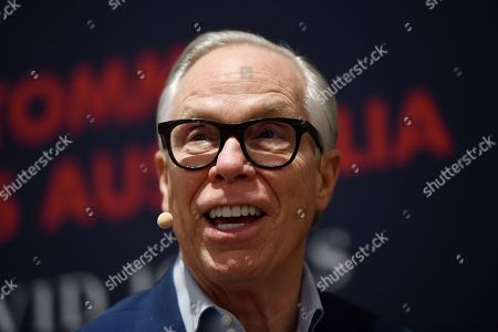 US designer Tommy Hilfiger is seen during a fan meet and greet at David Jones Elizabeth Flagship store in Sydney, New South Wales, Australia, 14 November 2019. The iconic US designer is in Sydney as part of his first ever tour of Australia.