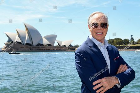 US designer Tommy Hilfiger poses for a portrait at the Park Hyatt in Sydney, New South Wales, Australia, 14 November 2019. The iconic US designer is in Sydney as part of his first ever tour of Australia.