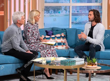 Stock Photo of Phillip Schofield and Holly Willoughby with Joe Wicks