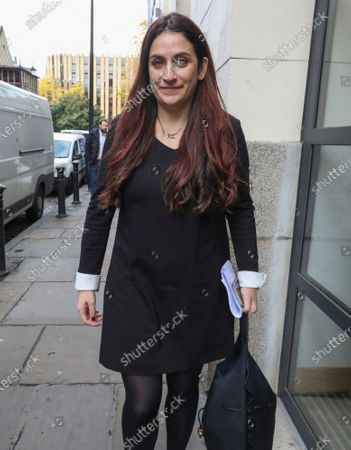 Luciana Berger arrives at Glaziers Hall, London for the Lib Dems Press Conference.