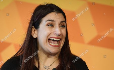 Liberal Democratic Party member Luciana Berger outlines her party's equalities and human rights policy in London, Britain, 14 November 2019. Britons go the polls on 12 December in a general election.