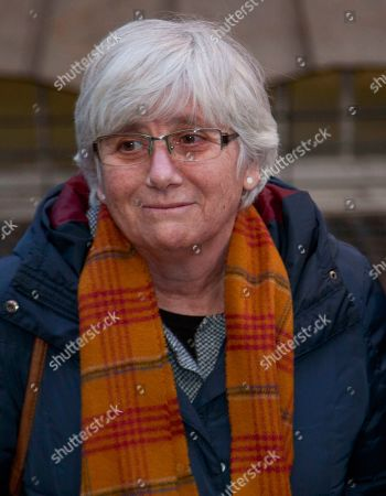 Former Catalan education minister Clara Ponsati leaves Edinburgh Sheriff Court in Edinburgh, Britain, 14 November 2019.  Ponsati was granted bail and allowed to keep her passport, according to media reports.