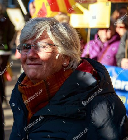 Former Catalan education minister Clara Ponsati to hand herself in at a police station in Edinburgh, Scotland, Britain, 14 November 2019. Spain submitted an extradition request for ponsati as she is charged with sedition after Catalonia's independence referendum in 2017.