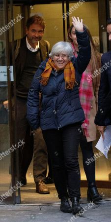 Former Catalan Education Minister Clara Ponsati leaves Edinburgh Sheriff Court in Edinburgh, Britain, 14 November 2019. Ponsanti was granted bail and allowed to keep her passport, according to medai reports.