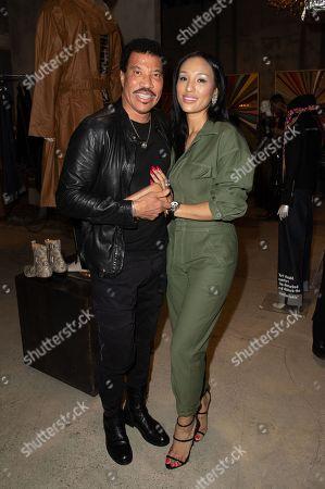Stock Image of Lionel Richie and Lisa Parigi