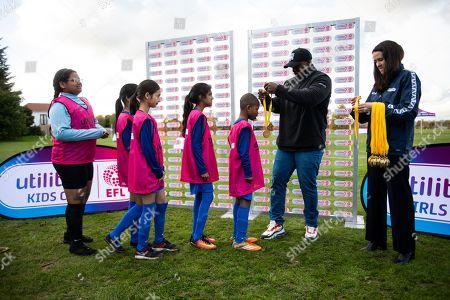 Utilita Kids & Girls Cup  Adebayo Akinfenwa hands out medals