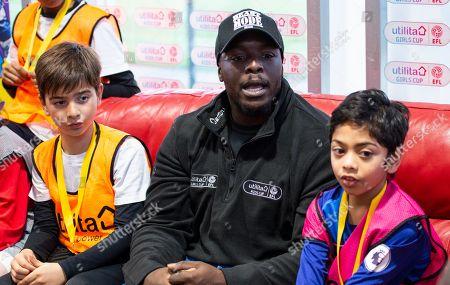 Utilita Kids & Girls Cup  Adebayo Akinfenwa during Q&A