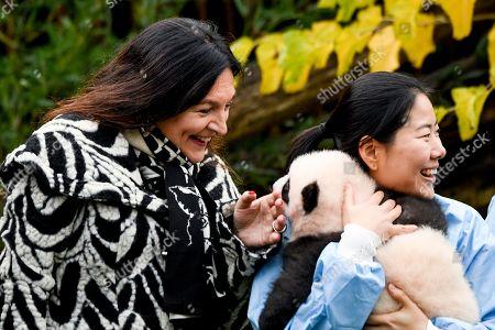 Marie-Christine Marghem with Panda Bao Di