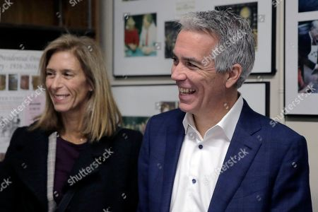 Joe Walsh, Helene Walsh. Republican presidential candidate former U.S. Rep. Joe Walsh, R-Ill., arrives with his wife Helene Walsh to file to have his name listed on the New Hampshire primary ballot, in Concord, N.H
