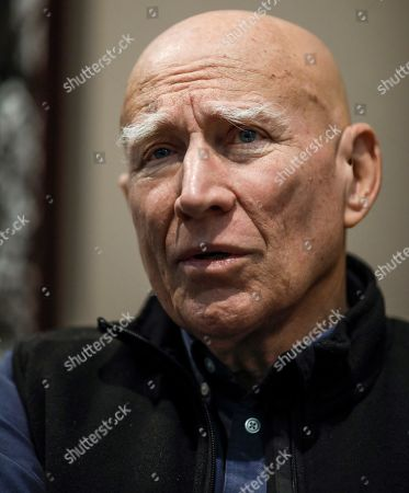 Brazilian photographer Sebastiao Salgado speaks during an interview with Spanish international news agency Efe at the Tomas y Valiente Arts Center in Fuenlabrada, Spain, 14 November 2019, on occasion of the inauguration of his exhibit 'Gold. Tierra Pelada'. The exhibit runs from 14 November until 09 February 2020.