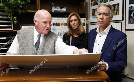 Republican candidate for United States President, former US Representative from Illinois Joe Walsh (R) and his wife Helene (C) as he talks with New Hamsphire Secretary of State Bill Gardner (L) as files his paperwork to appear on the New Hamsphire Primary ballot at the New Hamsphire State House, in Concord, New Hampshire, USA, 14 November 2019. The first in the nation primary is scheduled to be held on 11 February 2020.