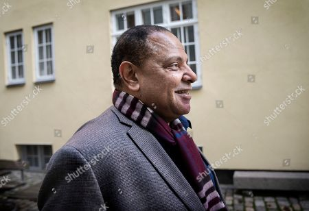 Egyptian writer and a founding member of the political movement Kefaya, Alaa Al-Aswany poses during an interview on the release of his new book 'I ran to the Nile' in Copenhagen, Denmark, 14 November 2019.
