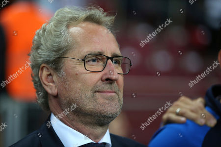 Iceland's coach Erik Hamren is seen during the Euro 2020 Group H qualifying soccer match between Turkey and Iceland in Istanbul