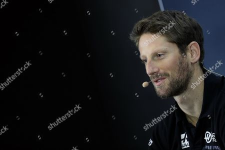 French Formula One driver Romain Grosjean of Haas F1 Team attends a press conference in Sao Paulo, Brazil, 14 November 2019. The Formula 1 Brazilian Grand Prix will take place on 17 November.