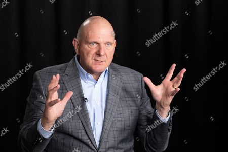 Steve Ballmer, founder of USA Facts, talks during an interview, in New York. A new poll from The Associated Press-NORC Center for Public Affairs Research and USA Facts finds that regardless of political belief, many Americans say they have a hard time figuring out if information is true