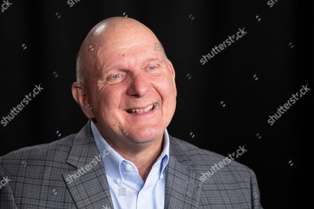 Stock Photo of Steve Ballmer, founder of USA Facts, talks during an interview, in New York. A new poll from The Associated Press-NORC Center for Public Affairs Research and USA Facts finds that regardless of political belief, many Americans say they have a hard time figuring out if information is true