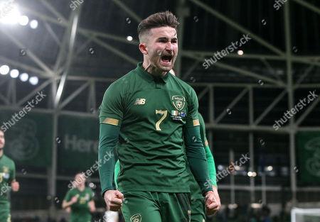 Republic of Ireland vs New Zealand. Ireland's Sean Maguire celebrates scoring their second goal