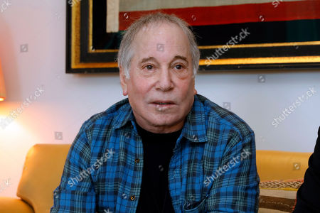 Stock Picture of Singer-songwriter, Paul Simon is interviewed in New York