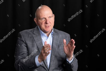 Stock Image of Steve Ballmer, founder of USA Facts, talks during an interview, in New York. A new poll from The Associated Press-NORC Center for Public Affairs Research and USA Facts finds that regardless of political belief, many Americans say they have a hard time figuring out if information is true