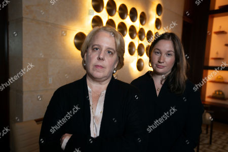 Roberta Kaplan, left, a lead lawyer in Sines v. Kessler, and Amy Spitalnick, executive director of Integrity First for America, the nonprofit funding the lawsuit, pose for a photo in Atherton Calif., . Sines v. Kessler was brought by a group of plaintiffs against white nationalists involved in planning a 2017 rally in Charlottesville, Va. in which one counter-protester was killed and several others were injured