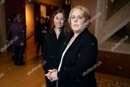 Stock Picture of Roberta Kaplan, right, a lead lawyer in Sines v. Kessler, and Amy Spitalnick, executive director of Integrity First for America, the nonprofit funding the lawsuit, pose for a photo in Atherton Calif., . Sines v. Kessler was brought by a group of plaintiffs against white nationalists involved in planning a 2017 rally in Charlottesville, Va. in which one counter-protester was killed and several others were injured