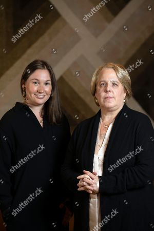 Stock Photo of Roberta Kaplan, right, a lead lawyer in Sines v. Kessler, and Amy Spitalnick, executive director of Integrity First for America, the nonprofit funding the lawsuit, pose for a photo in Atherton Calif., . Sines v. Kessler was brought by a group of plaintiffs against white nationalists involved in planning a 2017 rally in Charlottesville, Va. in which one counter-protester was killed and several others were injured
