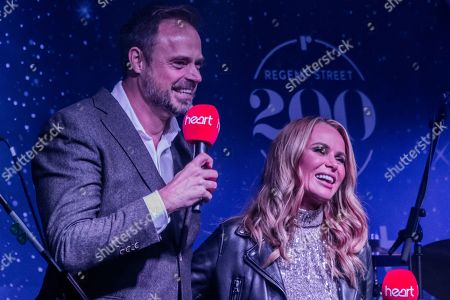 Heart presenters Jamie Theakston and Amanda Holden