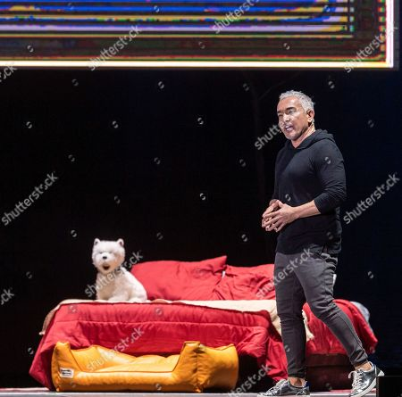 Stock Image of Mexican-American dog trainer and television personality Cesar Millan performs during his show in Papp Laszlo Budapest Sports Arena in Budapest, Hungary, 14 November 2019.