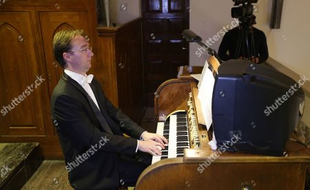 The organist Robert Kovac (Hungary) performs during a classical concert held in Damascus, Syria, 14 November 3019, in cooperation with the Higher Institute of Music and the Syrian National Symphony Orchestra. The concert is held as part of the weeklong Organ activities.In the Latin Church in Damascus.