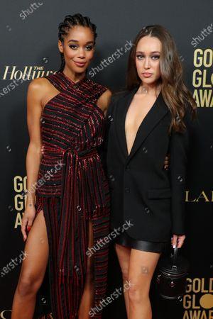 Laura Harrier and Alycia Debnam Carey