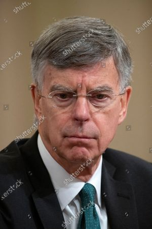Stock Photo of William B. Taylor, Chargé d'Affaires Ad Interim, Kiev, Ukraine, United States Department of State, testifies during the US House Permanent Select Committee on Intelligence public hearing as they investigate the impeachment of US President Donald J. Trump on Capitol Hill