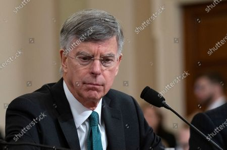 William B. Taylor, Chargé d'Affaires Ad Interim, Kiev, Ukraine, United States Department of State, testifies during the US House Permanent Select Committee on Intelligence public hearing as they investigate the impeachment of US President Donald J. Trump on Capitol Hill