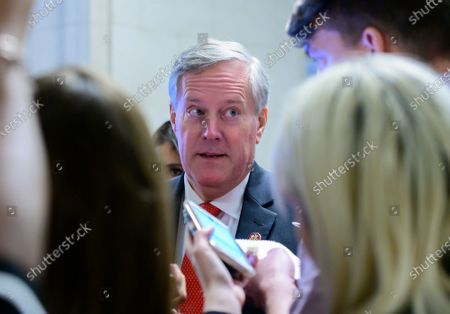 United States Representative Mark Meadows (Republican of North Carolina) speaks to reporters outside the hearing room where William B. Taylor, Chargé d'Affaires Ad Interim, Kiev, Ukraine, US Department of State, and George Kent, Deputy Assistant Secretary for European and Eurasian Affairs, US Department of State are giving testimony during the US House Permanent Select Committee on Intelligence public hearing as they investigate the impeachment of US President Donald J. Trump on Capitol Hill