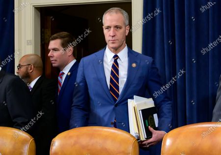 United States Representative Sean Patrick Maloney (Democrat of New York) arrives to hear testimony from William B. Taylor, Chargé d'Affaires Ad Interim, Kiev, Ukraine, United States Department of State and George Kent, Deputy Assistant Secretary for European and Eurasian Affairs, United States Department of State, during the US House Permanent Select Committee on Intelligence public hearing as they investigate the impeachment of US President Donald J. Trump on Capitol Hill