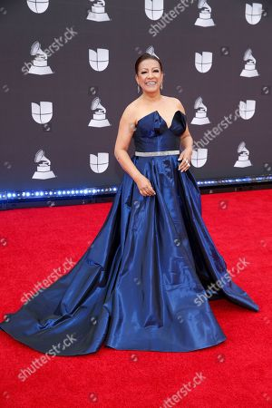 Milly Quezada arrives at the 20th Latin Grammy Awards, at the MGM Grand Garden Arena in Las Vegas