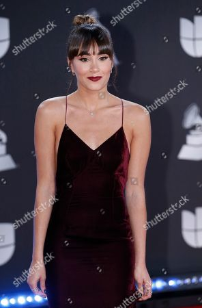 Aitana Ocana arrives at the 20th Latin Grammy Awards, at the MGM Grand Garden Arena in Las Vegas