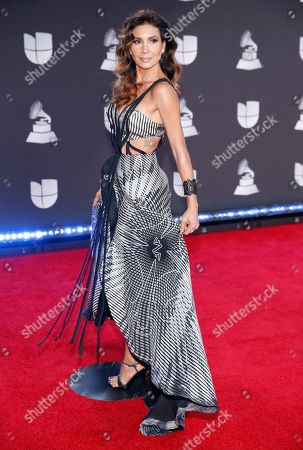 Patricia Manterola arrives at the 20th Latin Grammy Awards, at the MGM Grand Garden Arena in Las Vegas