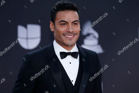 Carlos Rivera arrives at the 20th Latin Grammy Awards, at the MGM Grand Garden Arena in Las Vegas