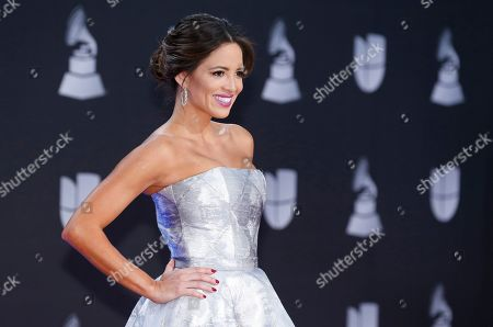 Pamela Silva Conde arrives at the 20th Latin Grammy Awards, at the MGM Grand Garden Arena in Las Vegas