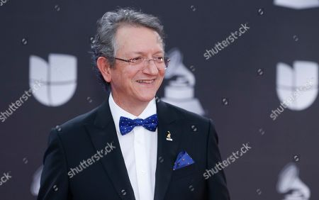 Stock Image of President and CEO of the Latin Academy of Recording Arts & Sciences Gabriel Abaroa Jr. arrives at the 20th Latin Grammy Awards, at the MGM Grand Garden Arena in Las Vegas