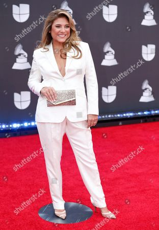 Lorena Garcia arrives at the 20th Latin Grammy Awards, at the MGM Grand Garden Arena in Las Vegas